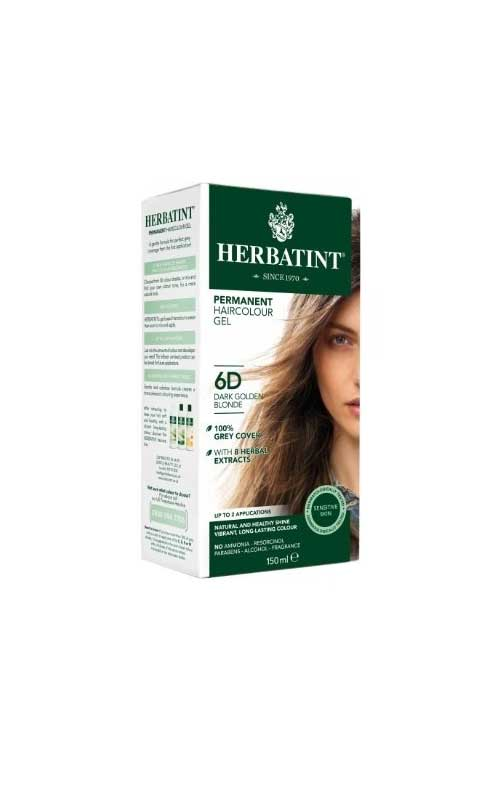 HERBATINT TINTA PER CAPELLI 6D BIONDO SCURO DORATO - 135 ML