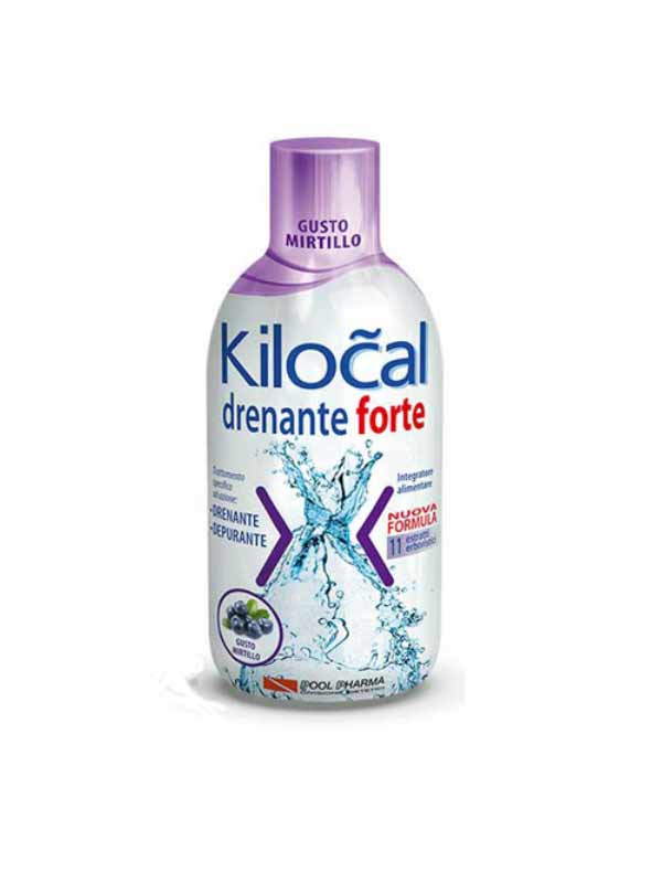 KILOCAL DRENANTE FORTE INTEGRATORE DRENANTE E DEPURANTE GUSTO MIRTILLO - 500 ML