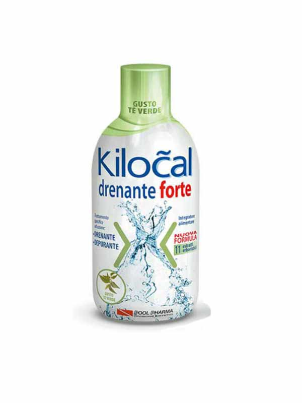 KILOCAL DRENANTE FORTE INTEGRATORE DRENANTE E DEPURANTE GUSTO TE VERDE - 500 ML