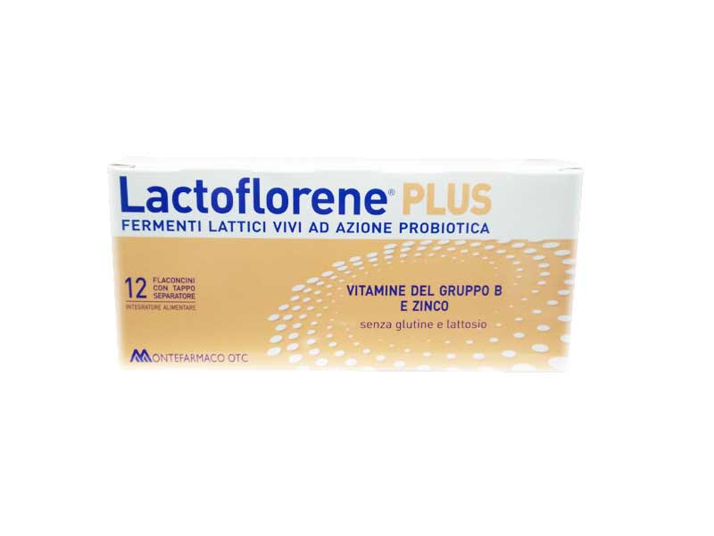 LACTOFLORENE PLUS 12 FLACONCINI CON TAPPO SEPARATORE