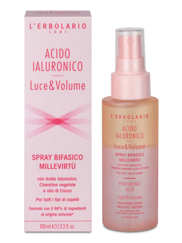 L'ERBOLARIO ACIDO IALURONICO LUCE E VOLUME SPRAY BIFASICO MILLEVIRTU 100 ML