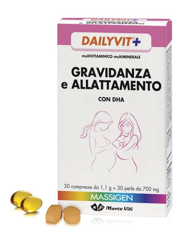 MASSIGEN DAILYVIT+ GRAVIDANZA E ALLATTAMENTO 30 COMPRESSE + 30 PERLE
