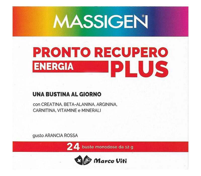 MASSIGEN PRONTO RECUPERO ENERGIA PLUS ARANCIA ROSSA 24 BUSTE DA 12 G