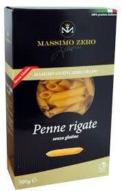MASSIMO ZERO PASTA CORTA SENZA GLUTINE - PENNE RIGATE - 500 G
