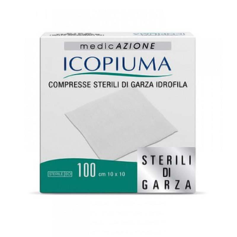 MEDICAZIONE GARZA ICOPIUMA 100 PEZZI DA 10 x 10 CM