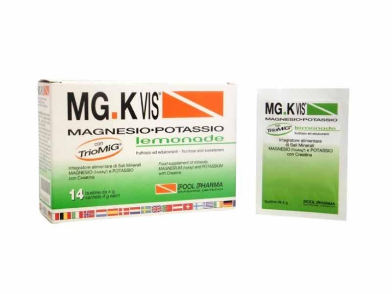 MGK VIS INTEGRATORE MAGNESIO POTASSIO LEMONADE - 14 BUSTINE DA 4 G