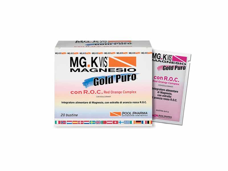 MGK VIS MAGNESIO GOLD PURO CON RED ORANGE COMPLEX GUSTO ARANCIA - 20 BUSTINE