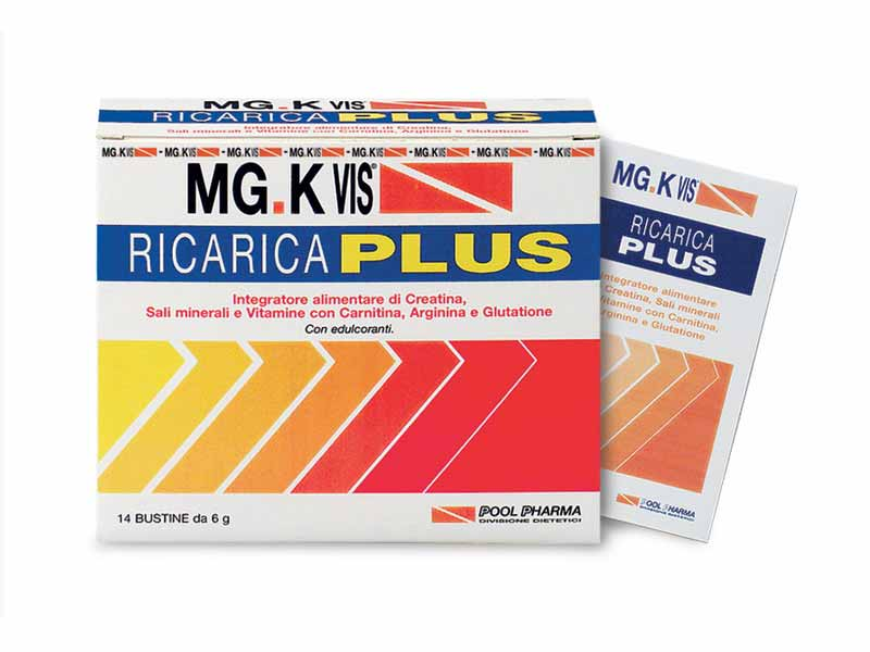 MGK VIS RICARICA PLUS INTEGRATORE TONICO ENERGETICO GUSTO ARANCIA - 12 BUSTINE DA 4 G