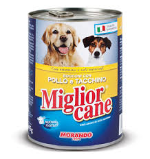 MIGLIORCANE UMIDO BOCCONI CON POLLO E TACCHINO GR.400 - 24 CONFEZIONI