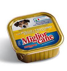 MIGLIORCANE VASCHETTE CON POLLO E TACCHINO GR.150 - 22 VASCHETTE