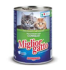MIGLIORGATTO BOCCONCINI PER GATTI CON CONIGLIO GR.400 - 24 CONFEZIONI
