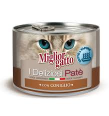 MIGLIORGATTO I DELIZIOSI PATE CON CONIGLIO GR.200 - 24 CONFEZIONI