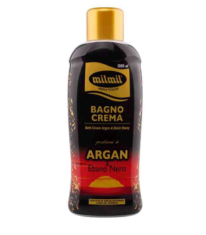 MIL MIL BAGNOSCHIUMA ARGAN ED EBANO NERO - 1 LT