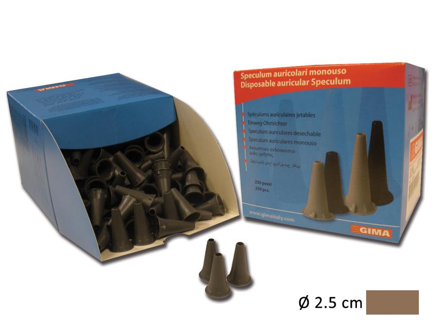 MINI SPECULUM AURICOLARE MONOUSO Ø 2.5 mm - grigio