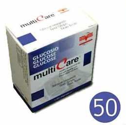 MULTICARE STRISCE REATTIVE PER MISURAZIONE DEL GLUCOSIO - 50 STRISCE