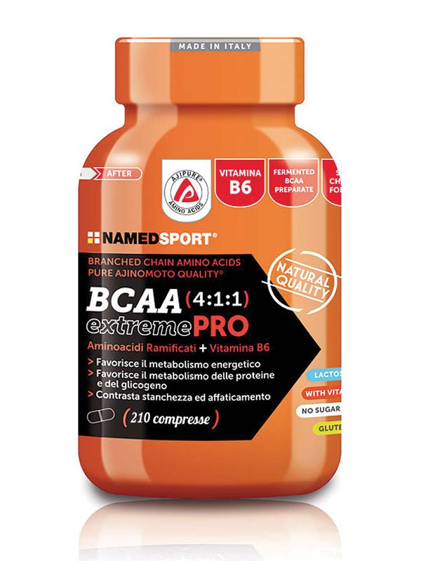 NAMED SPORT BCAA 4.1.1 EXTREME PRO 210 COMPRESSE
