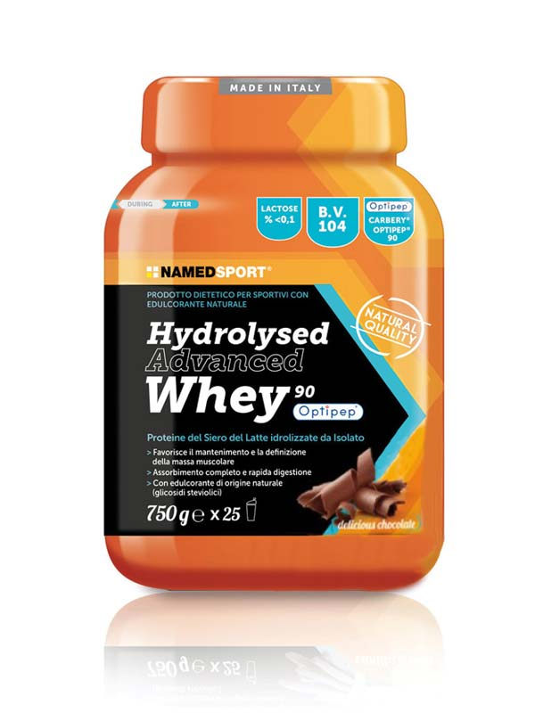 NAMED SPORT HYDROLYSED ADVANCED WHEY GUSTO DELICIOUS CHOCOLATE 750 G