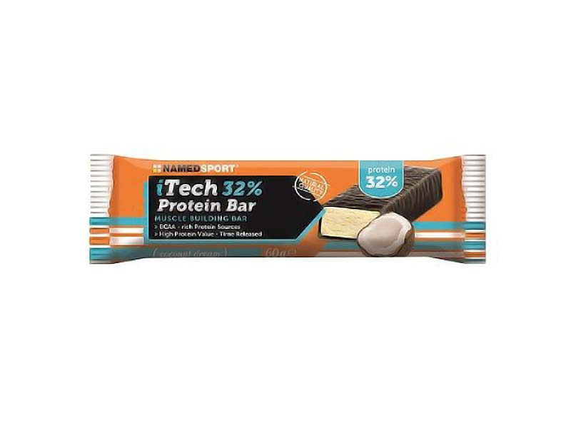 NAMED SPORT ITECH 32% PROTEIN BAR COCONUT 60 G