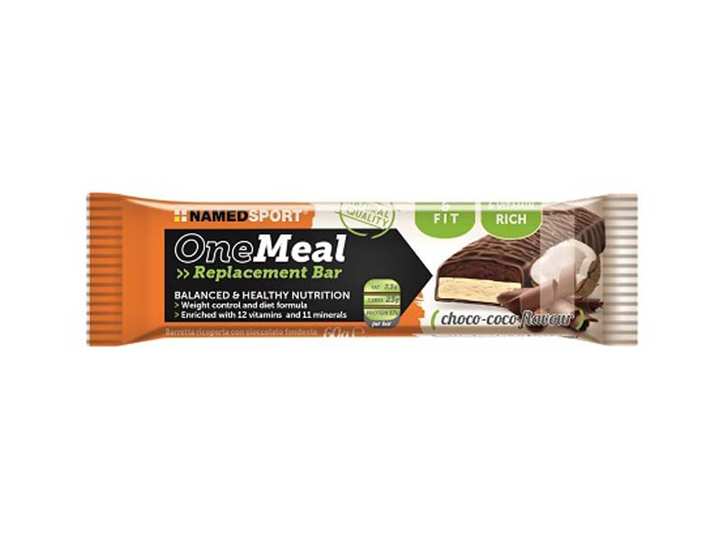 NAMED SPORT ONE MEAL REPLACEMENT BAR GUSTO CHOCO COCO 60 G