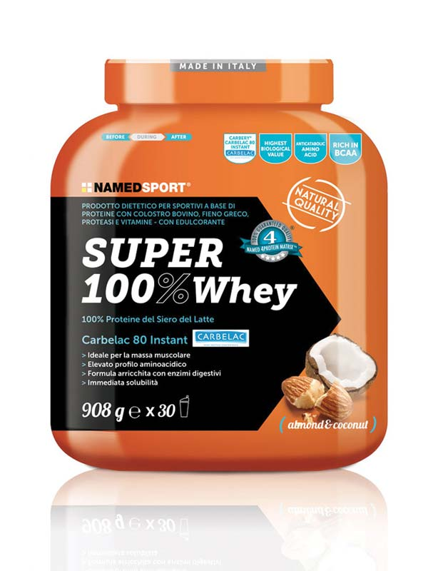 NAMED SPORT SUPER 100% WHEY GUSTO COCONUT ALMOND 908 G