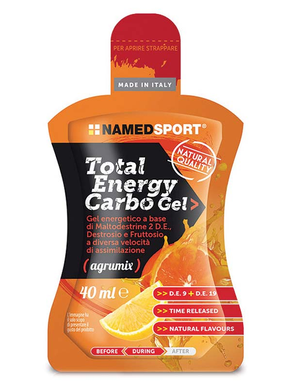 NAMED SPORT TOTAL ENERGY CARBO GEL AGRUMIX FLAVOUR 40 ML