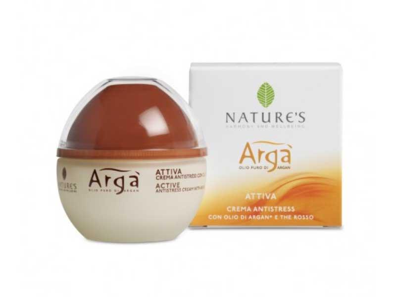 NATURE'S ARGA' CREMA ATTIVA ANTISTRESS CON OLIO PURO DI ARGAN - 50 ML