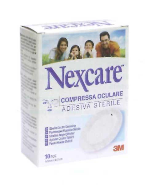 NEXCARE COMPRESSA OCULARE ADESIVA STERILE - 10 PEZZI DA 6,5 x 9,5 CM