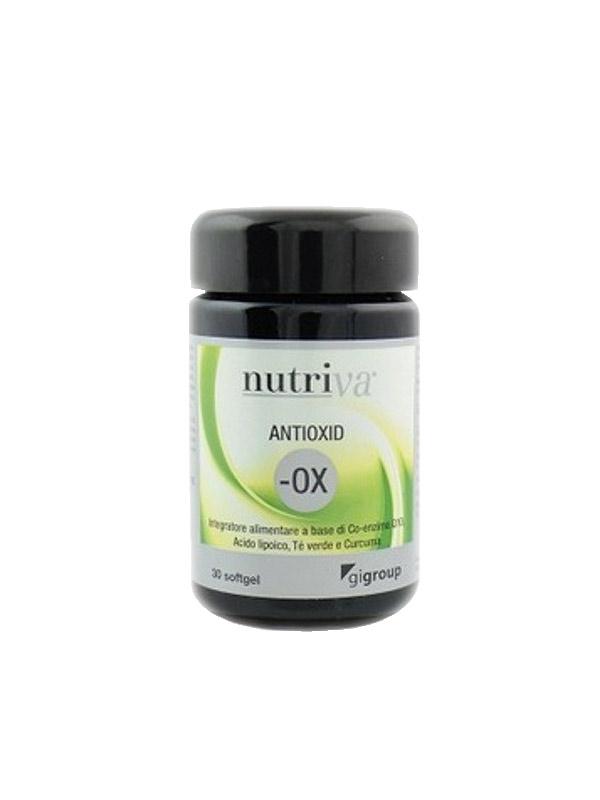 NUTRIVA ANTIOXID -OX INTEGRATORE ANTIOSSIDANTE - 30 CAPSULE SOFTGEL