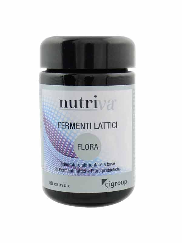 NUTRIVA FLORA INTEGRATORE DI FERMENTI LATTICI VIVI - 50 CAPSULE