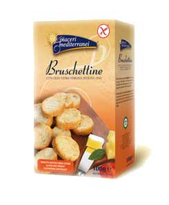 PIACERI MEDITERRANEI - BRUSCHETTINE SENZA GLUTINE - 100 G