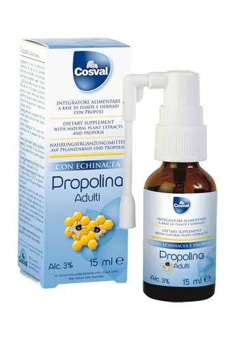 PROPOLINA ADULTI SPRAY - INTEGRATORE CON PROPOLI ED ECHINACEA - 15 ML