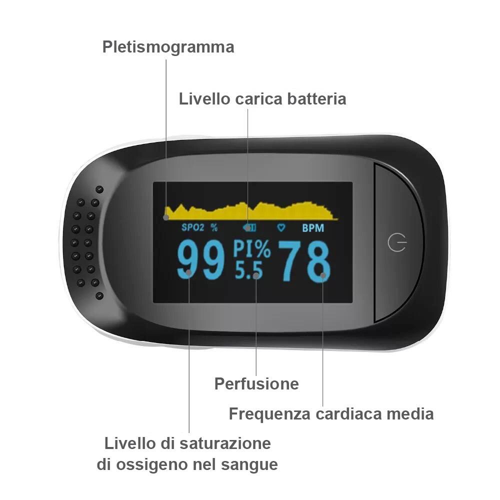 Pulsossimetro Digitale da Dito Oximeter Fingertip