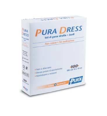PURA DRESS GARZA IDROFILA STERILE 100 PEZZI DA 10 x 10 CM