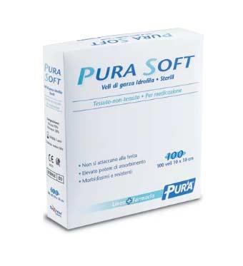 PURA SOFT GARZA IDROFILA STERILE IN TNT - 100 PEZZI DA 10 x 10 CM