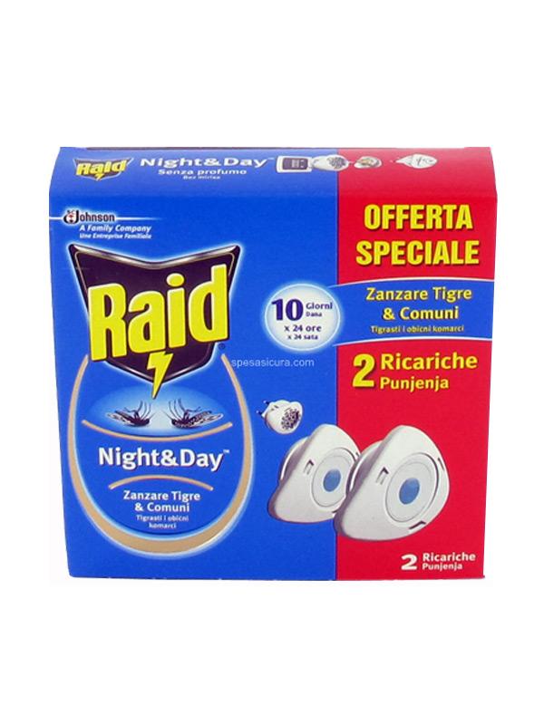 RAID NIGHT AND DAY ZANZARE TIGRE E COMUNI 2 RICARICHE