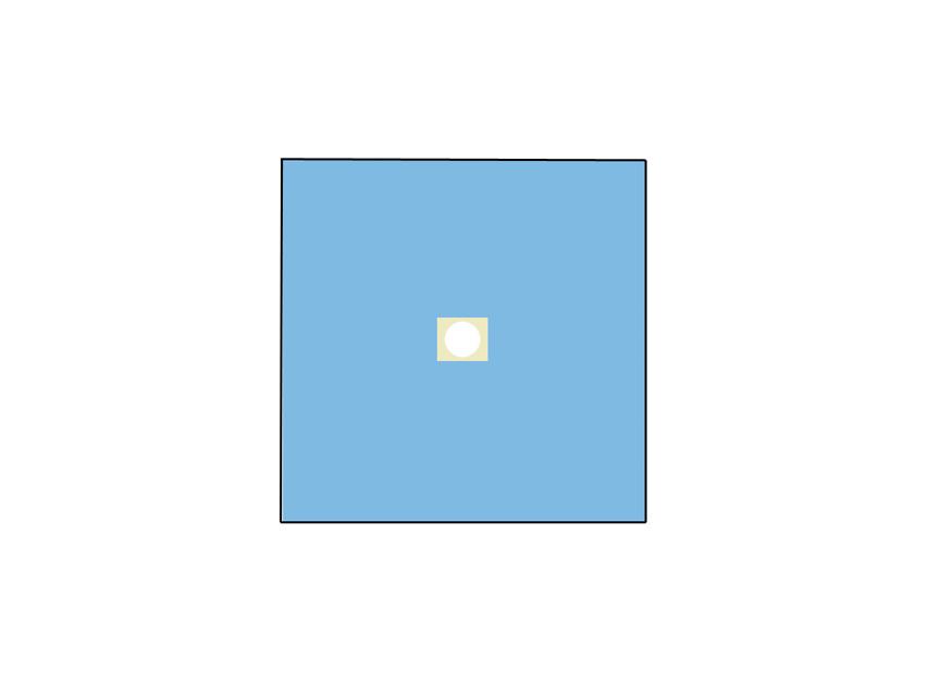TELO CHIRURGICO - 100 x 100 cm - con foro Ø 10 cm
