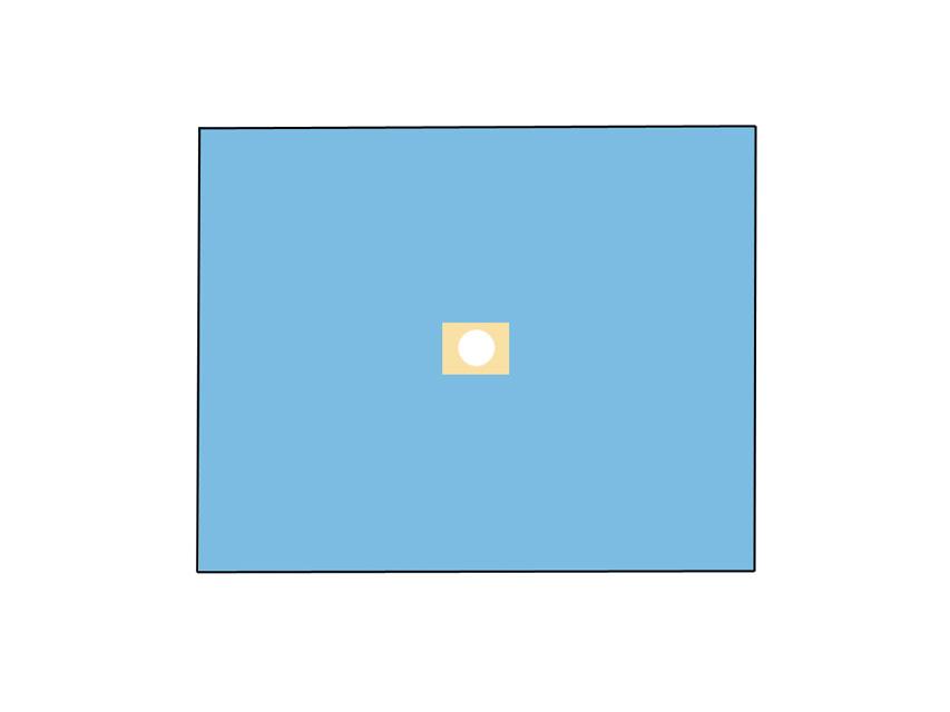 TELO CHIRURGICO - 120 x 150 cm - con foro Ø 10 cm