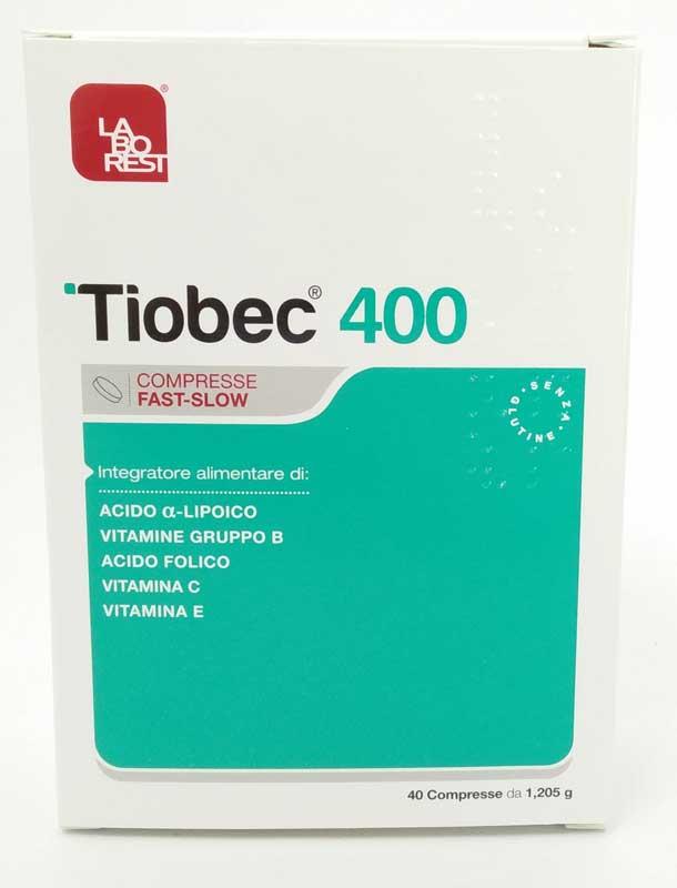 TIOBEC 400 40 COMPRESSE