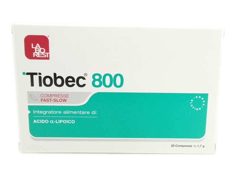 TIOBEC 800 20 COMPRESSE DA 1,7 G
