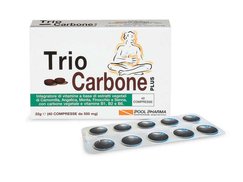 TRIO CARBONE PLUS 40 COMPRESSE