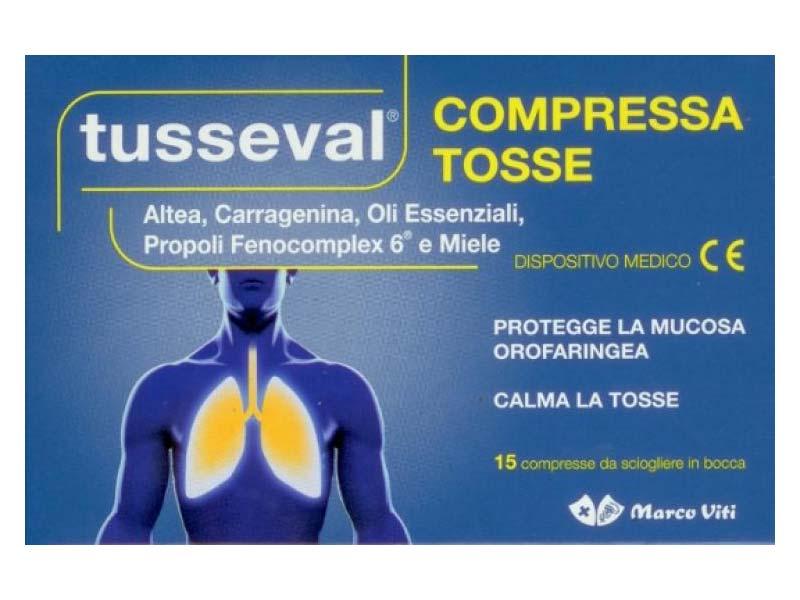 TUSSEVAL 15 COMPRESSE
