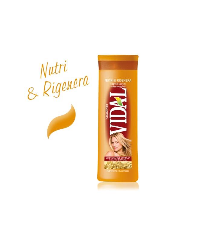 VIDAL SHAMPOO NUTRI E RIGENERA - 250 ML