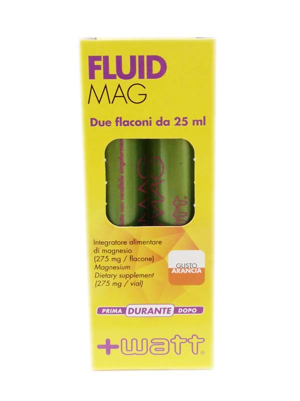 WATT FLUID MAG MAGNESIO LIQUIDO GUSTO ARANCIA 2 FLACONI DA 25 ML