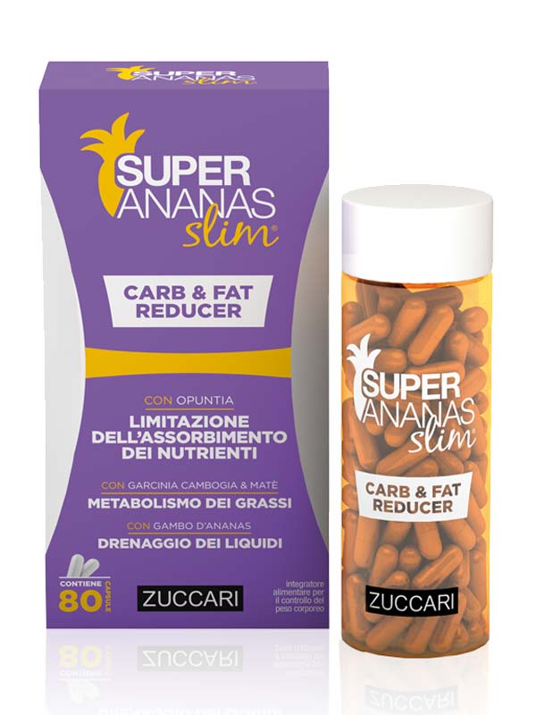ZUCCARI SUPER ANANAS SLIM CARB AND FAT REDUCER 80 CAPSULE