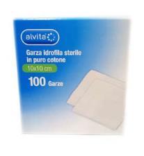 ALVITA GARZA IDROFILA STERILE 10x10 CM - 100 PEZZI