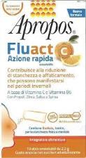 APROPOS FLUACT AZIONE RAPIDA GUSTO ARANCIA - 10 STICK OROSOLUBILI DA 2,2 G