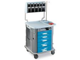 CARRELLO AURION MEDICAZIONE - azzurro - 5 cassetti
