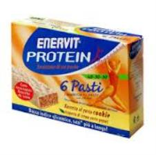 ENERVIT PROTEIN 6 PASTI GUSTO COOKIE - 6 BARRETTE DA 53 G