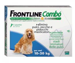 FRONTLINE COMBO SPOT ON CANI 10-20 KG 3 PIPETTE DA 1,34 ML
