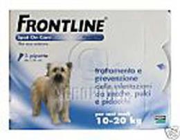 FRONTLINE Spot On per CANI MEDI 10-20 Kg 3 pipette